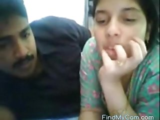 Sexy Indian couple making love above webcam
