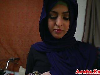 Arab hijabi fucked thither forbidden tight pussy