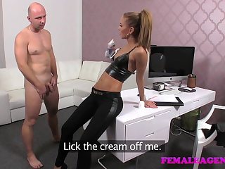 FemaleAgent Casting creampie for joking surrogate