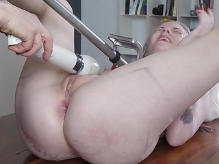 Naked blonde whore dominated in a unalloyed XXX