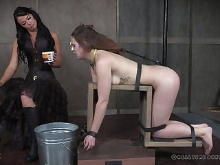 Hardcore spanking and humiliation for Nora Riley more extreme bondage