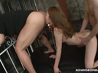 Japanese hottie Yui Tachiki gives a rimjob and gets her pussy nailed in a trice