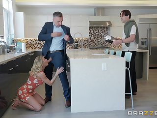 Sexy blonde Jessa Rhodes adores fucking with her neighbor in the house