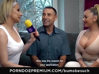 BOOTIES BESUCH - Huge-Chested German pornography starlet Dana Jayn tears up matured inexperienced fanboy
