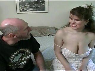 Tessa to a aged fart - big mammaries