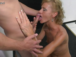 Lass licks and fucks hot mature not his mommy