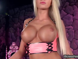 Rikki Six Femdom STRAPON CHASTITY FUCKING SISSY Scurvy FETISH
