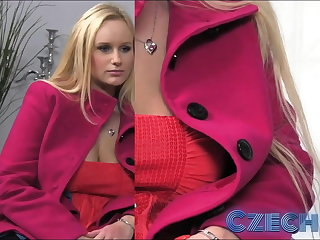 Czech Be in charge Blonde gets sprayed with spunk in Casting