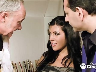 amanda sulky gets had sex by twosome old big cocks