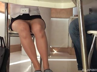 Brunette grown up Japanese gets pussy licked and fingered hardcore