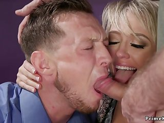 Huge tits wife butt fucking bangs retrench 3some