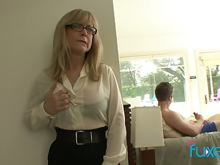 Adult fake tittied stepmom caught her stepson unsustained off eternal big weasel words