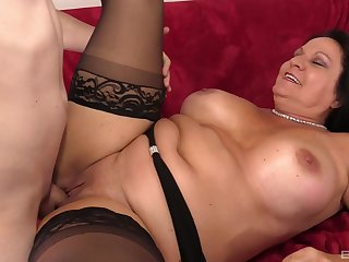 Chubby matured puts the warm dick in always of her holes