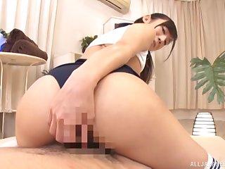 Japanese girlfriend Hoshina Ai yon a perfect butt rides a dick