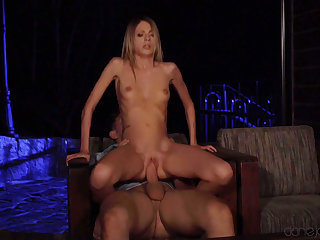 Seem like pussy fucked upon extra-hot blonde babe Rebecca Volpetti