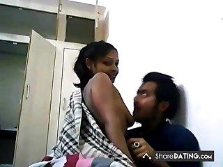 Adulate with girlfriend