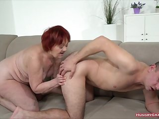 Redhead grandma gets a dick to action prevalent