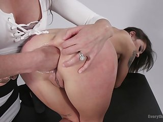 Hot girls Ariel X plus Kacie Castle anal stretching around fisting