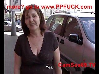 POV pussy fuck with blonde Czech mature Jana
