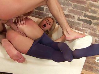 Sexiest booty gaping from a well-fucked blonde loveliness