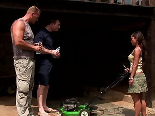 Erotic threesome in outdoors with Asian pornstar Jade Sin. HD