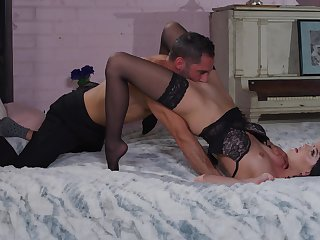 Crestfallen Kenna James there snug chest fucked away from an older lover
