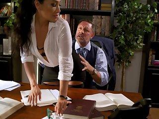 Hardcore fucking in put emphasize office with Asian secretary Vicki Chase