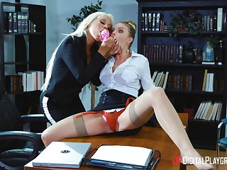 Professional ladies Bridgette B. and Britney Amber hook up respecting the workplace
