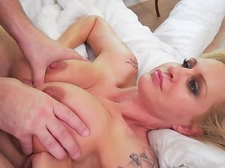 Big tits Mommy fucked everlasting all over ass