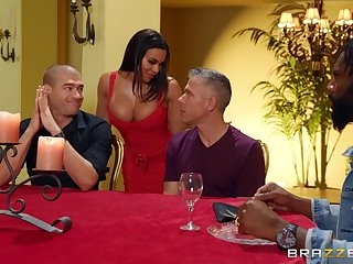 Cock hungry wife Luna Star fucked by several dudes on a former occasion