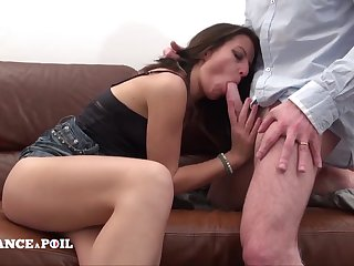 Naughty dark hair called Penis Service and gets hard protuberance