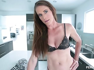 Skinny brunette babe with a navel piercing, Sofie Marie is waiting far get a huge cock