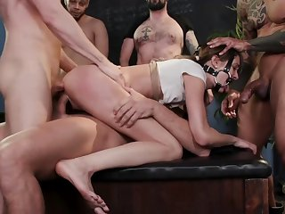 Zoe Sparx bdsm group fucked