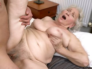 Old young gentleman gets her muted cunt drilled in ways she never experienced