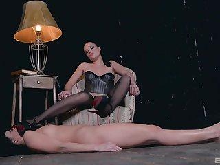 Female fantasize in strong femdom scenes on cam