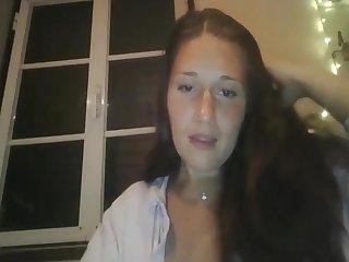 Cute Busty Webcam Girl Masturbating
