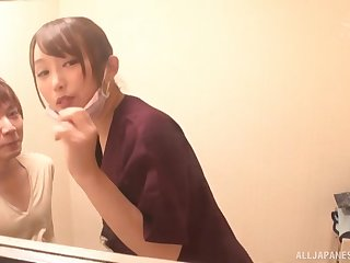 Quickie fucking in the bathroom almost small tits babe Kiritani Nao