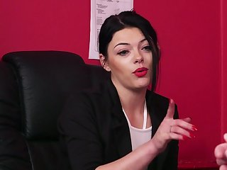 Nude clothed mature is keen for some nasty office porn