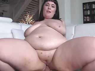 BBW wife Alexxxis Allure sucks his unearth with the addition of gets fucked balls abysm